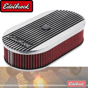 Elite 2 Series Polished Oval Air Cleaner For Single 4 Bbl Carb 2 5 Element