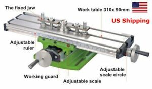 Update Compound Milling Machine Work Table Cross Slide Bench 310 90mm Us Ship