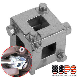 Car Vehicle Rear Disc Brake Piston Caliper Wind Back Cube Tools 3 8 Durable Us
