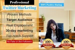 Professional And Manual Twitter Marketing Service 30 Day Twitter Campaign