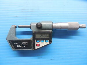 Metric Mm Only Mitutoyo No 293 0 001 Mm Digital Micrometer Inspection Tool