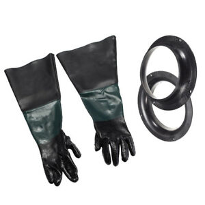Heavy Duty Sandblasting Gloves 210mm Holder For Sand Blast Cabinet 60cm