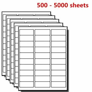 500 5000 Sheet Mailing Address Barcode Shipping Labels Self Adhesive 1 X 2 5 8