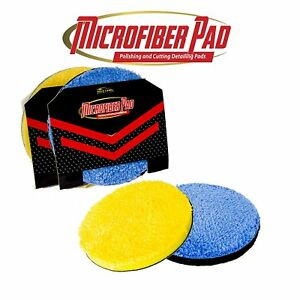 Microfiber Da Buffing And Cutting Pads 2 Pack Quick Detailing Disc 3 5 Or 6