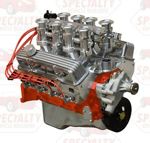 Small Block Chevy 383 500hp Crate Engine With Hilborn Style Fuel Injection Efi