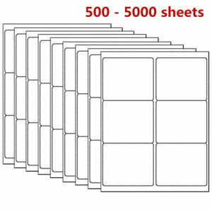 500 5000 Sheet 3 1 3 X 4 Shipping Address Labels Laser Ink Jet Self Adhesive