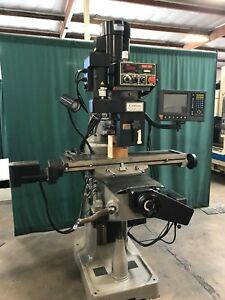 2005 Kent Mills Ktm 3vs 1 3 Axis Cnc Knee Mill W Quickchange Tooling Package