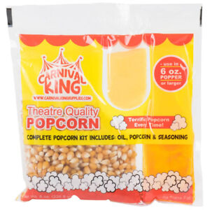 Carnival King All in one Popcorn Kit For Use In Poppers 6 Oz Larger 20 Kit
