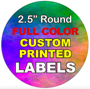 Full Color Labels Custom Printed 2 5 Round Circle Stickers High Quality Rolls
