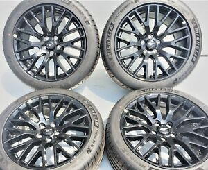 Ford Mustang Gt Factory 19 Wheels Rims Tires Michelin 10036 10038 Oem Set Of 4