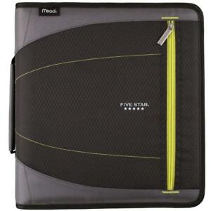 Five Star 2 Inch Zipper Binder File Folders Durable Yellow black 29036bb7