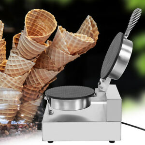 110 220v Commercial Electric Stainless Ice Cream Egg Rolls Cone Maker Machine