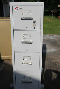 Mosler Fire File C Rating By Ul 500 Pounds 1940 s Vintage 4 Drawer Letter Size