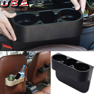 Car Auto Seat Seam Wedge Cup Drink Storage Organizer Holder Mount Stand Black