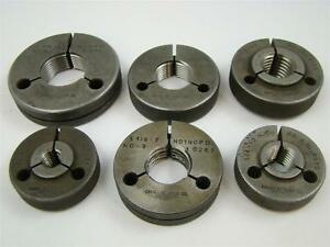 6 Cadillac Gage Co Threaded Ring Gages sizes 9 16 3 4 1 1 1 8 1 3 8