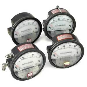 Dwyer Magnehelic Gauges Inches Of Water Lot Of 4