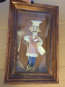 Vintage 3d Chef Wall Art Shadowbox Mcm Mid Century Kitchen Decor Kitsch 60s