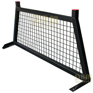 Pick Up Truck Rear Back Window Cab Screen Protector Cage Headache Rack Guard