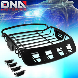 Universal Adjustable Heavy Duty Steel Roof Cargo Basket Car Top Luggage Holder