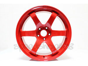 Rota Grid Wheels Deep Red 18x9 5 38 5x100 For Scion Tc 05 10 Subaru Wrx 02 14