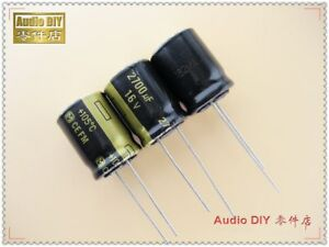 10pcs Panasonic Fm Series 2700uf 16v Ultra Low Internal Resistance Capacitor