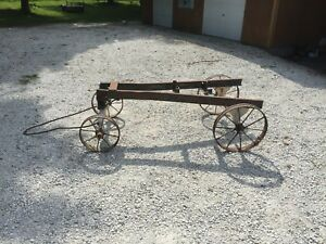 Rare Original Hit And Miss Engine Cart Stover Economy Hercules Witte 4 6 Horse