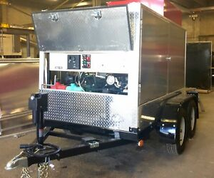 Pressure Washing Trailer For Sale Mobile Cleaning System 9 Gpm Power Washer