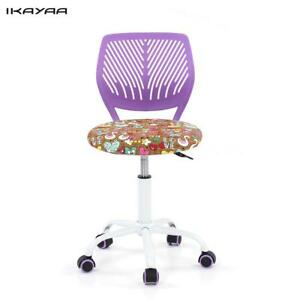 Adjustable Fabric Teen Child Desk Chair Swivel Office Computer Chair Stool Y5w4