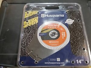 Husqvarna 14 Banner Line Black Wet Diamond Saw Blade Asphalt Green Concrete