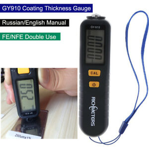 Gy910 Coating Thickness Gauge Lcd Auto Fe nfe 0 1300 Meter Film Probe Tester Nfe