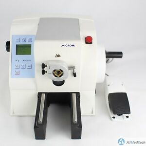 Microm Hm 355 S 2 Automated Motorized Rotary Microtome 905130 With Foot Pedal