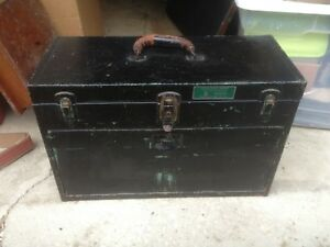 Vintage 7 drawer Mill Lathe Apprentice Metal Machinists Tool Chest Box