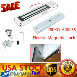 280kg 600lbs Holding Force Door Entry Electric Magnetic Lock Mounting Bracket Uu