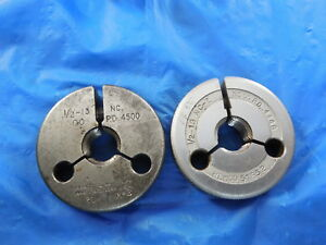1 2 13 Nc 2 Thread Ring Gage 5 Go No Go Pd 4500 4448 Free Shipping Tool