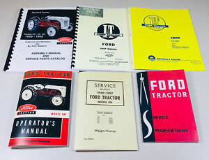 Lot 6 Ford 8n Tractor Manuals Shop Operators Parts Catalog Service Repair Owner