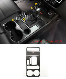 4pcs Carbon Fiber Center Console Cover Trim For Volkswagen Touareg 2011 2018