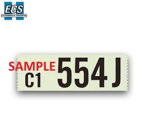 1964 1965 1966 1967 1968 Ford Mustang Engine Id Decal Factory Exact Sticker