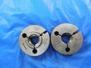 3 4 10 Uns Thread Ring Gage 75 Go No Go P d s 6935 6890 Inspection Tools