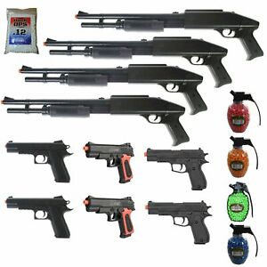 MEGA AIRSOFT PARTY PACKAGE 10 DOA 6mm Airsoft Guns Rifles 4200 .12g BBs $57.95