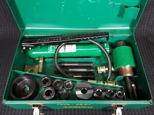 Greenlee 767 Hydraulic Hand Pump 746 Knockout Punch Ram W Accessories