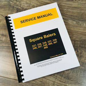 Service Manual For John Deere 336 Square Baler Repair Shop Troubleshooting