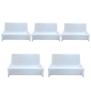 5pcs White Acrylic Business Card Holder Display Stand For Office Desk