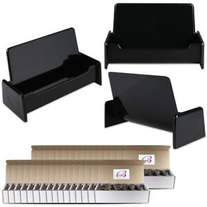 500pcs Black Color Plastic Business Card Holder Display Stand Desktop Countertop