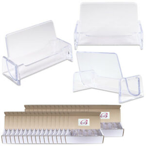 500pcs Clear Acrylic Compartment Desktop Business Card Holder Display Stand