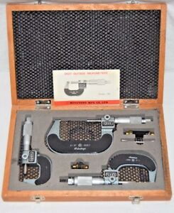 Mitutoyo Micrometers 0 3 Mechanical Digit Micrometer Set 193 923