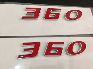 Fit For Plymouth 360 Engine Size Hood Scoop Fender Trunk Emblems Red