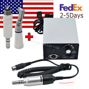 us dental Lab Micro Motor Grinding Handpiece 35k Contra Angle 4h Air Motor