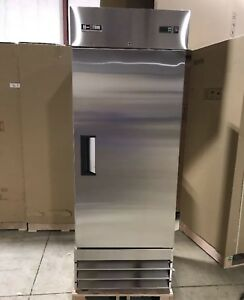 Commercial Refrigerator Single Door Stainless Reach In Cooler Brand New