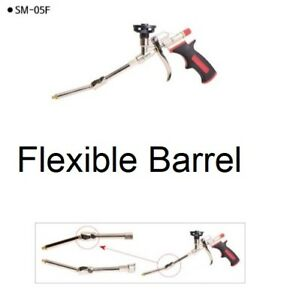 Professional Flexible Barrel Polyurethane Foam Gun Applicator Various Angle