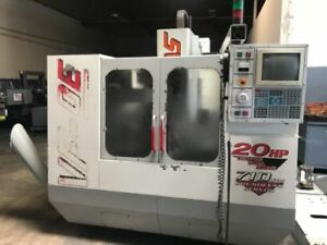 1999 Haas Vf 0e Cnc Vmc P cool 10k Rpm Spindle Through Spindle Wired 4th
